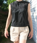 Top that I drafted from a sloper with burda 5/2010 shorts
