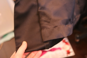 I hemmed the lining by hand