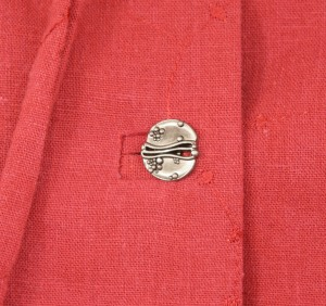 I love these buttons!  You can see my bound buttonholes, as well.