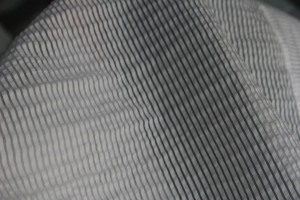 close up of fabric, with black and white underlays