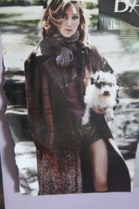 photo of a photo in September Vogue of Jennifer Lawrence wearing the Vuitton coat