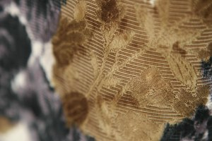 fabric detail.  You can see the brocade weave under the print.