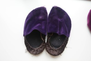 this is what my old slippers look like.  They get a lot of wear.