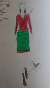 Her original sketch
