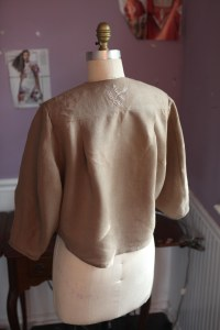 back view.  I did a small embroidery on the yoke.