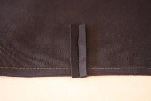 fold raw edges under