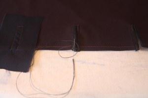 buttonhole stitch over bartack