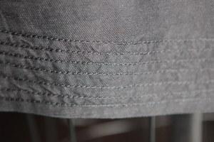 skirt hem detail.  I stitched it using decorative thread in the bobbin.