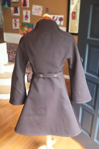 back.  I love the shape of the nipped-in waist and the flared skirt