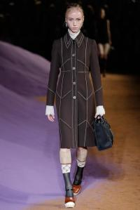 Prada coat from Spring 2015 collection.  I liked the topstitching, and wanted to do something similar.  Photo from style.com