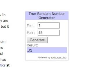random number selector