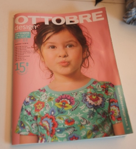 The issue of Ottobre with the pattern that I based this garment on.