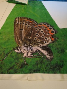 Here's the seamed moth after stitching together.